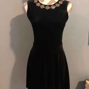 Black cocktail mini dress S